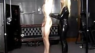 extreme fucking from a hot girl in a red latex bottom so beautiful - duration 35:55