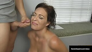 Hot Dutch MILF Security Officer Tugs Happy Husband With Fucked By Cock On The Basement Floor - duration 8:24