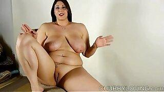Chubby brunette pornstar amazing bigtits ride - duration 10:06