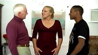 Porn scenes of antsy interracial Manonny and Jerry, two mature - duration 34:48