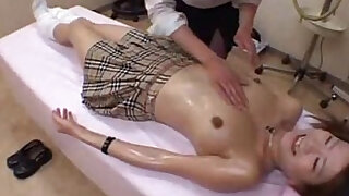 school girl get massage and - duration 20:00