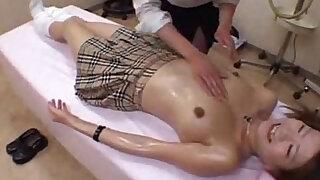 massage - school girl get massage and