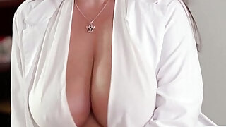 Mia and Georgia and their chiropractor Angela kiss and lick - duration 5:00