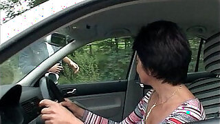 Car Troubled Granny Gets Help And Fucked - duration 12:00