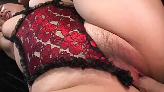 Hot unshaved milf in lingerie - duration 5:00