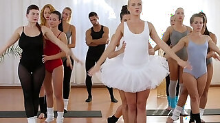 Fitness Rooms Petite ballet teachers secret threesome - duration 14:00