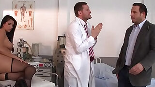 Doctor in sex Adventures Milgrams Experiment scene starring Melissa Ria and Yanick Shaft - duration 8:00