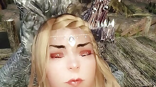 Sexy priestess captured, dominated, and gangbanged by monsters Skyrim 3d hentai - duration 22:00