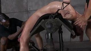 Breast bondage sub bent backwards - duration 6:00