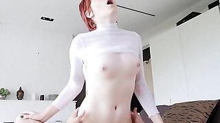 Cute Teen Head Ginger Stepdaughter Birthday Fuck - duration 8:00