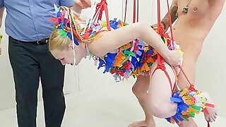 Anal pinata girl gets brutal punishment - duration 4:00