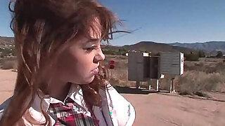Foxy schoolgirl sucking on a rock hard mamba cock - duration 5:00