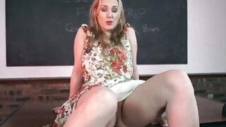 Teacher teases with panties and PUSSY! - duration 0:00