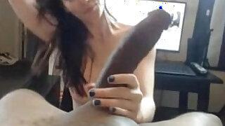 Beautiful white lady serves big black cock - duration 8:00