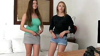Two hot amateurs fucked on casting - duration 6:00
