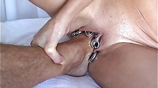 Hardcore anal Fuck with Foot Fistfuck Fisting and Footing - duration 1:38