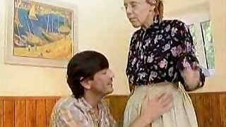 Granny Got Her Hairy Old Ass Anal Fucked - duration 2:00