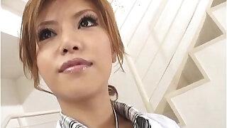 Nurse in black stockings Rika Tamura deals cock at work - duration 10:00