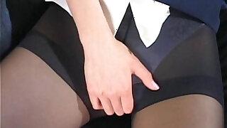 Flight attendant caught masturbating in her pantyhose - duration 2:00