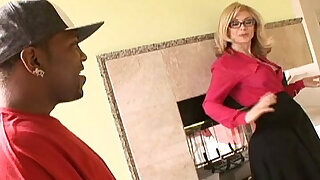 Enormous black cocks make this mature blonde a really happy woman - duration 26:00