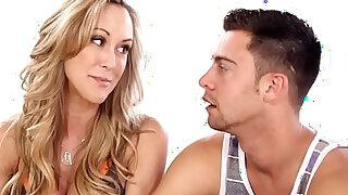 MomsTeachSex Hot Yoga Mom Fucks Son And Teen GF - duration 12:00