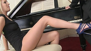Blanche Summer demonstrates her feet skills to her music teacher - duration 10:00