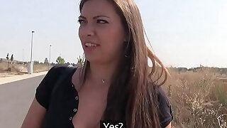 Public Agent Ellie Springlare gets cash in hand and cock in mouth - duration 13:00