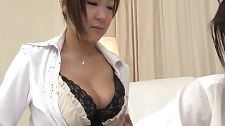 Morinaga uses her tits to stroke the cock - duration 12:00