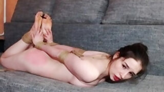 VP sub girl tied up, vibrated and face fucked - duration 1:6:10