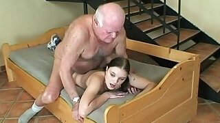lucky day for horny grandpa - duration 13:00