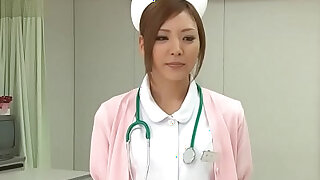 Stunning Japanese nurse gets creampied after being roughly pussy pounded - duration 1:01