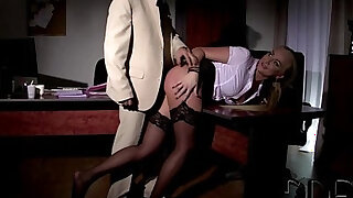 Angry Boss Gives Naughty Kayla Green A Full On BDSM Lesson - duration 7:00