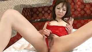 Extreme solo with horny milf in lingerie Hikaru Aoyama - duration 12:00