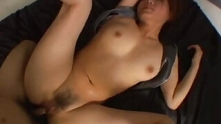 Hairy Japanese pussy is fucked really hard in a threesome - duration 7:00