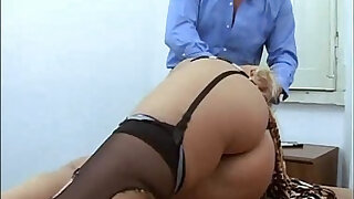 Amazing mature blonde abused in a job interview - duration 22:00