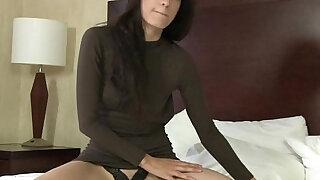 Newbie Coed First Real Female Masturbation to Orgasm Shoot - duration 8:00