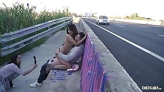 Outdoor Tritying with Boobs compilation - duration 31:14