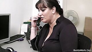 My BBW colleague gives perfect blowjob in the office video - duration 6:57