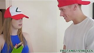 Crazy Blonde Teen Fucks Her Step Brother - duration 8:40
