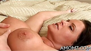 Hot mature lady fucks her cock with a vibrator - duration 5:57